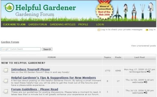 Gardening Forum