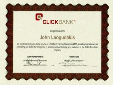 Clickbank Apex Elite Certificate
